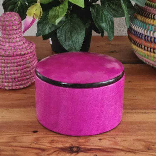 Pink gedeskinds læderæske