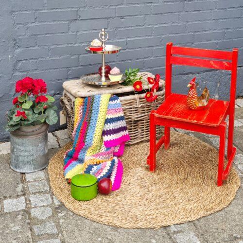 Børnestol flot rød