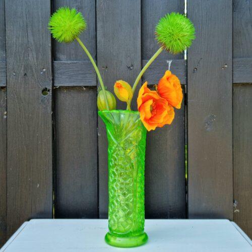 Flot grøn glasvase