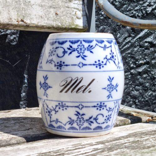 Mussel porcelænskrukke