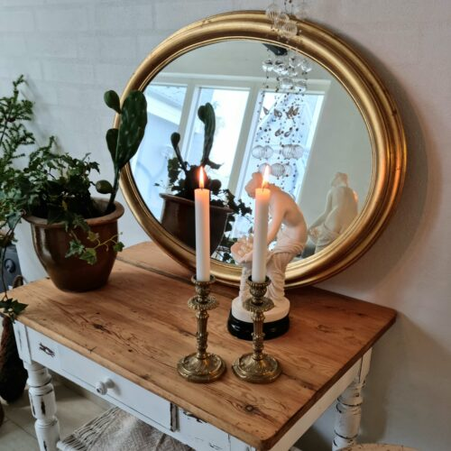 Ovalt guldspejl