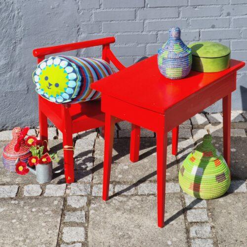 Børnesæt stol/bord retro