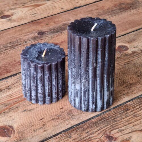 Koksgråt rustikt duft - bloklys