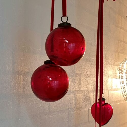 Skønne røde julekugler